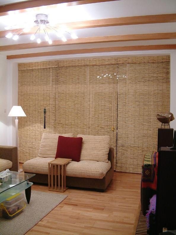 Straw Roll up Blind