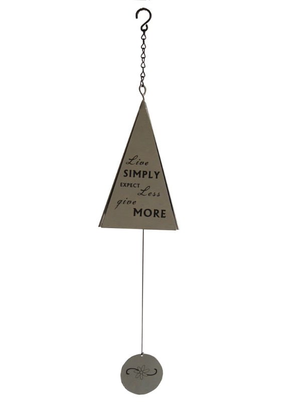 Metal Silver Triangle Sonnet Chime