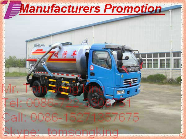 sewage tanker septic tank Vacuum Sewage Suction Truck sewage tanker Sewer Septic Sewer Jetting & Suction Truck T :86-152713576
