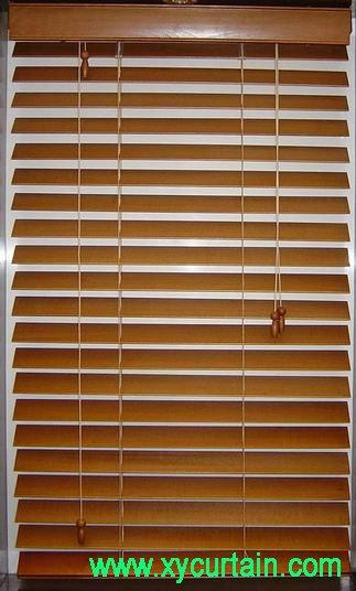 Venecianas de madera ciego 35 mm persianas cortinas y - Persianas enrollables de madera ...