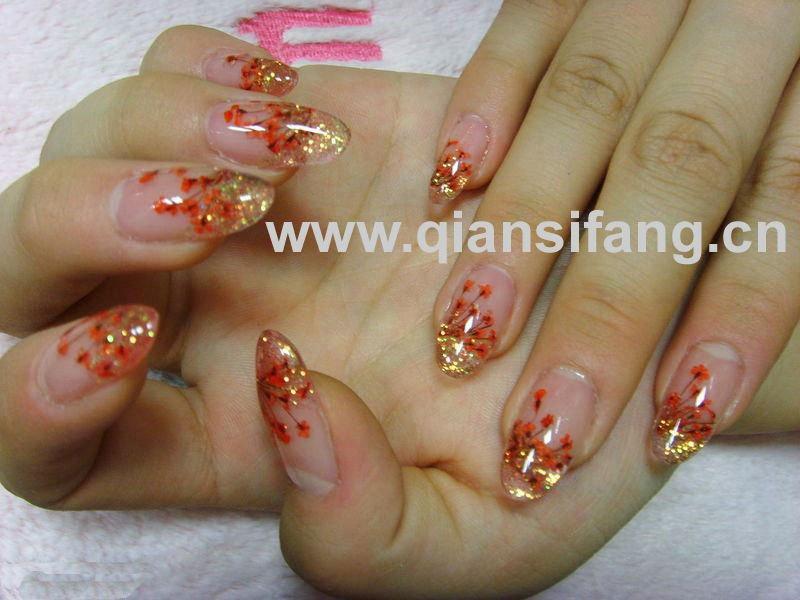 Дизайн ногтей сухоцветы