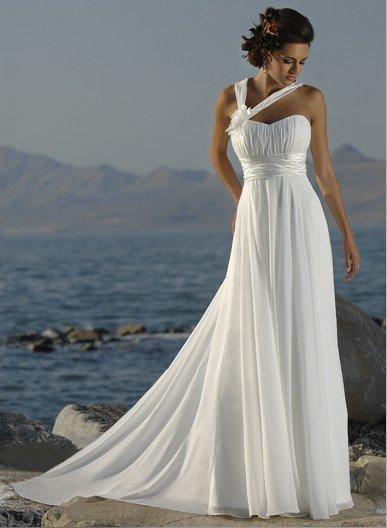 Модные уже на протяжении нескольки десятилетий греческие свадебные.
