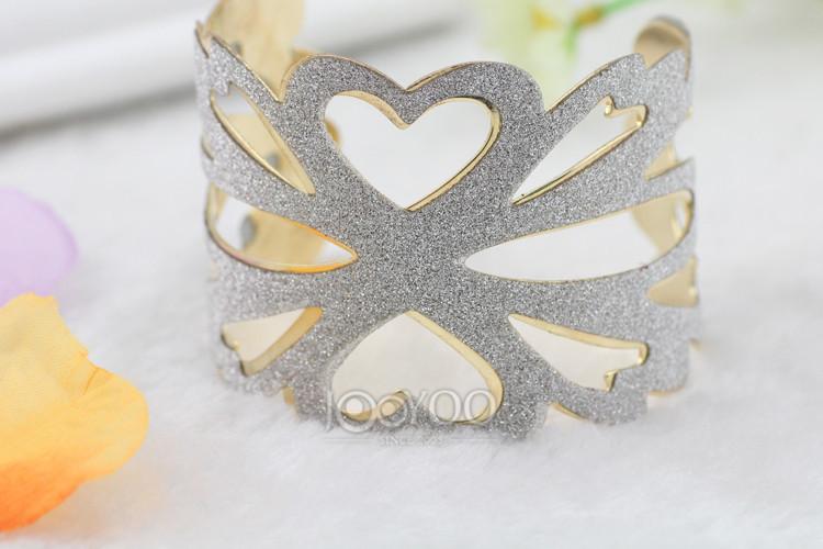 4pcs/lot 2016 Adjustable Hollow Cuff Bracelet Opening Crown Shape Pattern Bracelets&Bangles Open Punk Style Lagging Bangles